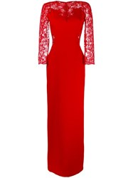 Ermanno Scervino Lace Details Gown Red