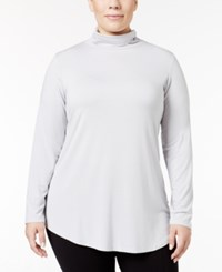 Jm Collection Plus Size Turtleneck Top Only At Macy's New City Silver