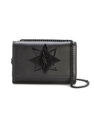 Saint Laurent Small Kate Star Shoulder Bag Women Leather Metal One Size Black