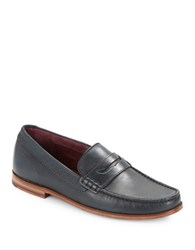 Ted Baker Miccke Leather Loafers Dark Blue