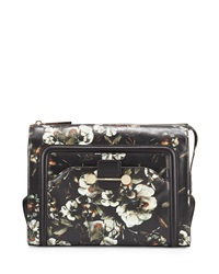 Jason Wu Daphne Floral Leather Clutch Bag Black