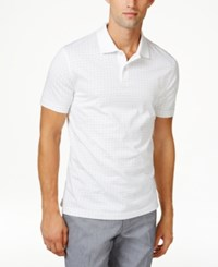Tasso Elba Men's Micro Paisley Polo Only At Macy's White Combo