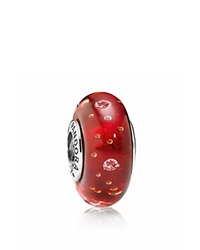 Pandora Design Pandora Charm Murano Glass Sterling Silver And Cubic Zirconia Red Effervescence Moments Collection Red Silver