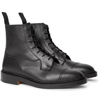 Tricker's Roy Pebble Grain Leather Boots Black