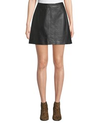Cupcakes And Cashmere Marrie Leather Mini Skirt Black