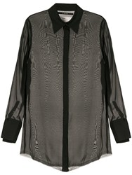 Song For The Mute Sheer Blouse Black