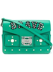 Salar Embellished Satchel Green