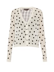 Rochas Polka Dot Cotton And Silk Organza Cardigan