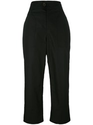 Isabel Marant Sola Cropped Trousers Black