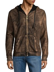Robin's Jean Metallic Cotton Hoodie Brown