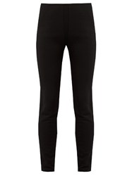 Moncler Fleece Lined Stretch Jersey Leggings Black