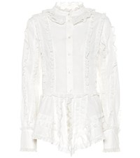See By Chloe Ruffled Cotton Blouse White
