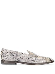 Etro Leather Loafers Grey