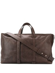 Orciani Top Handle Holdalls Brown