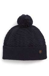 Ted Baker London Multi Stitch Knit Hat Blue Navy
