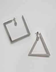 Cheap Monday Geo Earring Silver
