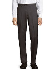 John Varvatos Astor Luxe Melange Wool Dress Pants Grey