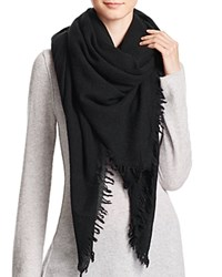 Bloomingdale's C By Bloomingdales Cashmere Solid Woven Scarf Black