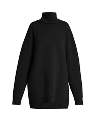 Raey Displaced Sleeve Roll Neck Wool Sweater Black