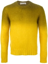 Marni Crew Neck Sweater Yellow And Orange