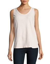 Velvet By Graham And Spencer Fitted Cotton Tank Top