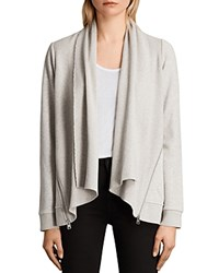 Allsaints Lucia Open Front Cardigan Pale Gray