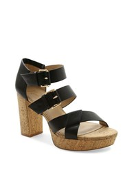 Nanette Lepore Vivienne Faux Leather Platform Sandals Black