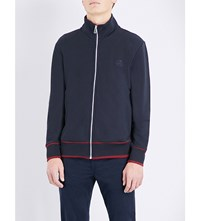 Paul Smith Ps By Zip Through Cotton Jersey Jacket Navy