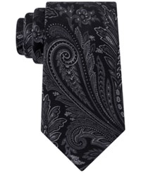 Sean John Men's Updated Paisley Tie Black