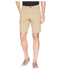 True Grit Heritage Chino Shorts Hand Treated Washed With Stitch Detail Vintage Khaki