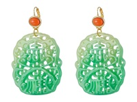 Kenneth Jay Lane 7834Elcj Light Coral Jade Earring Green