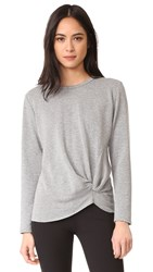 Stateside Long Sleeve Knot Sweatshirt Heather Grey