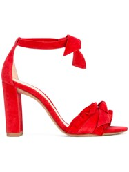 Alexandre Birman Clarita Bow Embellished Sandals Red