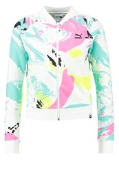Puma Tracksuit Top White Multicoloured