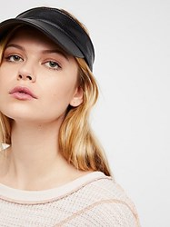 Free People Avalon Vegan Leather Visor By
