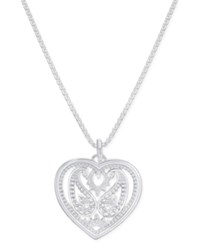 Thomas Sabo Filigree Heart Pendant Necklace In Sterling Silver