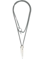 Lost And Found Ria Dunn Lee Brennan Necklace Silver Stainless Steel Grey