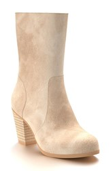 Shoes Of Prey Women's Block Heel Boot Blush Leather
