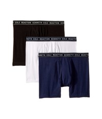 Kenneth Cole Reaction 3 Pack Basic Boxer Brief Navy White Charcoal Heather Underwear Multi
