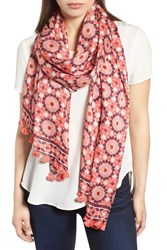 Kate Spade Floral Mosaic Scarf Conch Shell