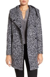 Kenneth Cole Women's New York Asymetrical Tweed Duffle Coat