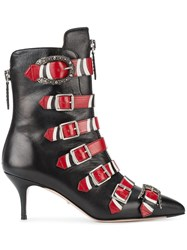 Gucci Buckle Ankle Boots Black