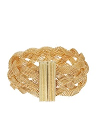 Catherine Stein Mesh Braided Bracelet Gold