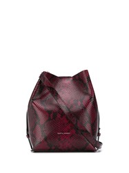 Rebecca Minkoff Kate Snakeskin Effect Bucket Bag Red