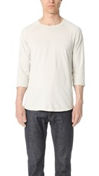 Reigning Champ Scalloped 3 4 Sleeve Tee Dust