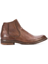 Officine Creative Legrand 42 Ankle Boots Women Buffalo Leather Calf Leather 36.5 Brown
