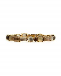 Roberto Coin Shanghai 18K Smoky Quartz Doublet Bangle