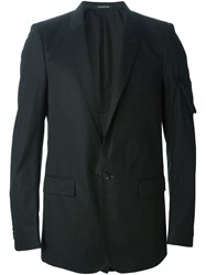 Nicolas Andreas Taralis Zip Pocket Detail Blazer Black