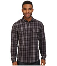 Hurley Unite Yarn Dyed Flannel Black Men's Clothing