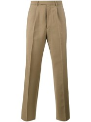 Valentino Straight Leg Trousers Brown